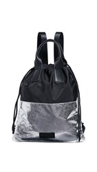 Kendall Kylie Layla Backpack Silver Black