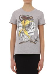 Moschino Printed Cotton Jersey T Shirt