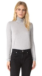 Three Dots Relaxed Turtleneck Granite