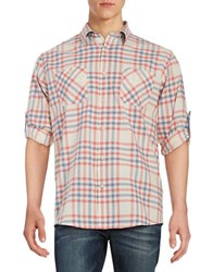 Weatherproof Plaid Sportshirt Orange