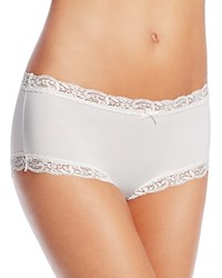 Fine Lines Microfiber Scallop Lace Boyshort Mb051 Ivory