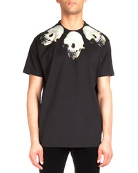 Givenchy Colombian Skull Print Jersey Tee Black Men's Size Large