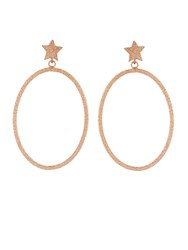 Carolina Bucci Rose Gold Star And Hoop Earrings
