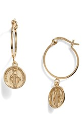 Argentovivo Argento Vivo Medallion Drop Earrings Gold