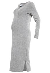 Mama Licious Mlmelow Jersey Dress Medium Grey Melange Mottled Grey