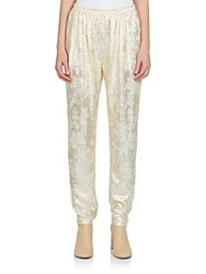 Stella Mccartney Lurex Front Jogger Pants Snow Gold