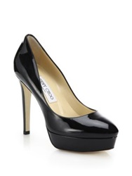 Jimmy Choo Alex Patent Leather Platform Pumps Black