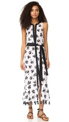 Proenza Schouler Falling Flowers Cover Up Dress White