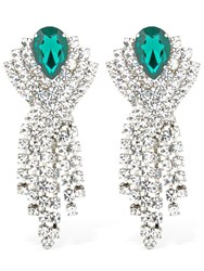 Alessandra Rich Crystal Clip On Earrings Transparent