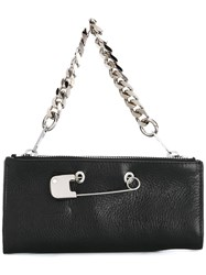 Sonia Rykiel By Safety Pin Detail Clutch Black