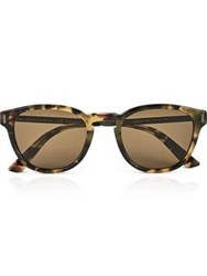 Calvin Klein Collection Classic Round Men's Sunglasses Tortoiseshell