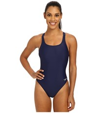 Solid Lycra Superpro Speedo Navy Women's Swimsuits One Piece Blue
