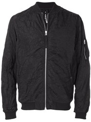 Mhi Maharishi Creased Bomber Jacket Black