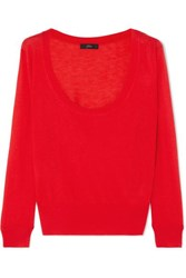 J.Crew Lyocell Blend Sweater Red