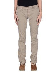 Siviglia White Trousers Casual Trousers Men Sand