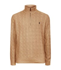 Polo Ralph Lauren Silk Cable Knit Jumper Male Beige