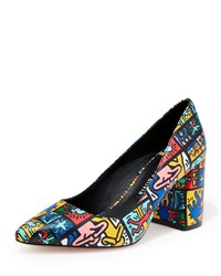 Alice Olivia Keith Haring X Collage Pumps Black
