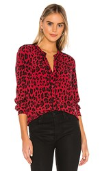 Rails Lillian Button Down In Red. Red Leopard