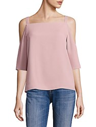 Cooper And Ella Zoe Cold Shoulder Top Sand Pink