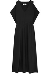 Maison Martin Margiela Mm6 Draped Twill Gown Black