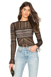Thistle And Spire Jane Lace Bodysuit Black