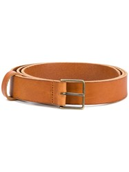 Forte Forte Narrow Classic Belt Nude And Neutrals