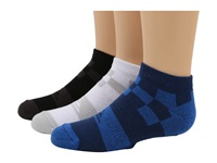 Quiksilver District Ankle 3 Pair Pack Big Kids Assorted Men's No Show Socks Shoes Multi