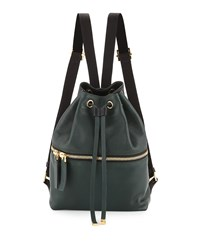 Zaino Two Tone Leather Backpack Dark Green Black Marni