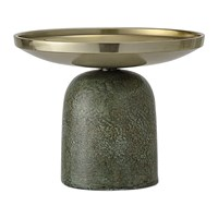 Bloomingville Round Aluminum Candle Holder Green