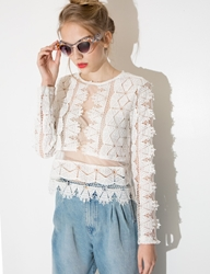 Pixie Market Lola Lace Long Sleeve Top