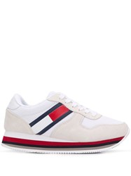 Tommy Jeans Lace Up Sneakers White