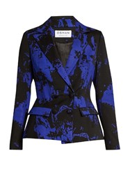 Osman Mona Double Breasted Wool Blend Jacket Blue Multi