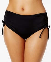 Swim Solutions Adjustable Ruched Brief Bottom Women's Swimsuit