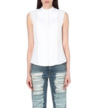 Alexander Mcqueen Sleeveless Cotton Shirt White