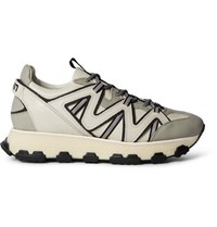 Lanvin Lightning Leather Sneakers Gray