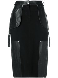 Christian Dior Vintage Knee Length Pencil Skirt Black