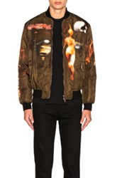 Givenchy Heavy Metal Bomber Jacket In Brown Abstract Brown Abstract