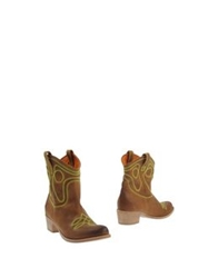 Peter Flowers Ankle Boots Camel