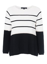 French Connection Matilda Textured Nautical Knit White