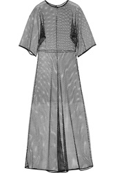 Vionnet Silk Trimmed Mesh Dress