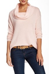 Susina Cowl Neck Cashmere Sweater Pink