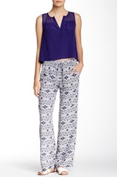 Twelfth St. By Cynthia Vincent Straight Leg Printed Drawstring Pant Multi
