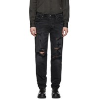 Amiri Black Destroyed Slouch Jeans