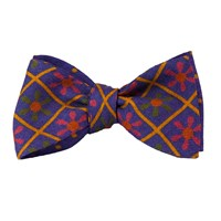 40 Colori Jeans Blue Propeller Wool And Silk Butterfly Bow Tie