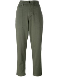 Barena High Rise Trousers Green