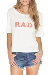 Amuse Society Women's Rad Cotton Tee Casablanca