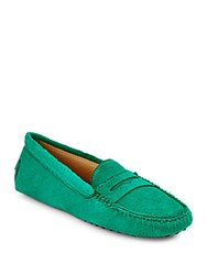 Tod's Fur And Leather Moccasins Green