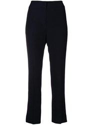 Emporio Armani Stretch Cropped Trousers Black