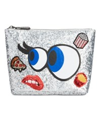 Sam Edelman Circus By Carley Glitter Customizable Cosmetic Case Eye