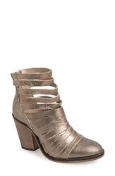 Free People 'Hybrid' Strappy Leather Bootie Women Gold